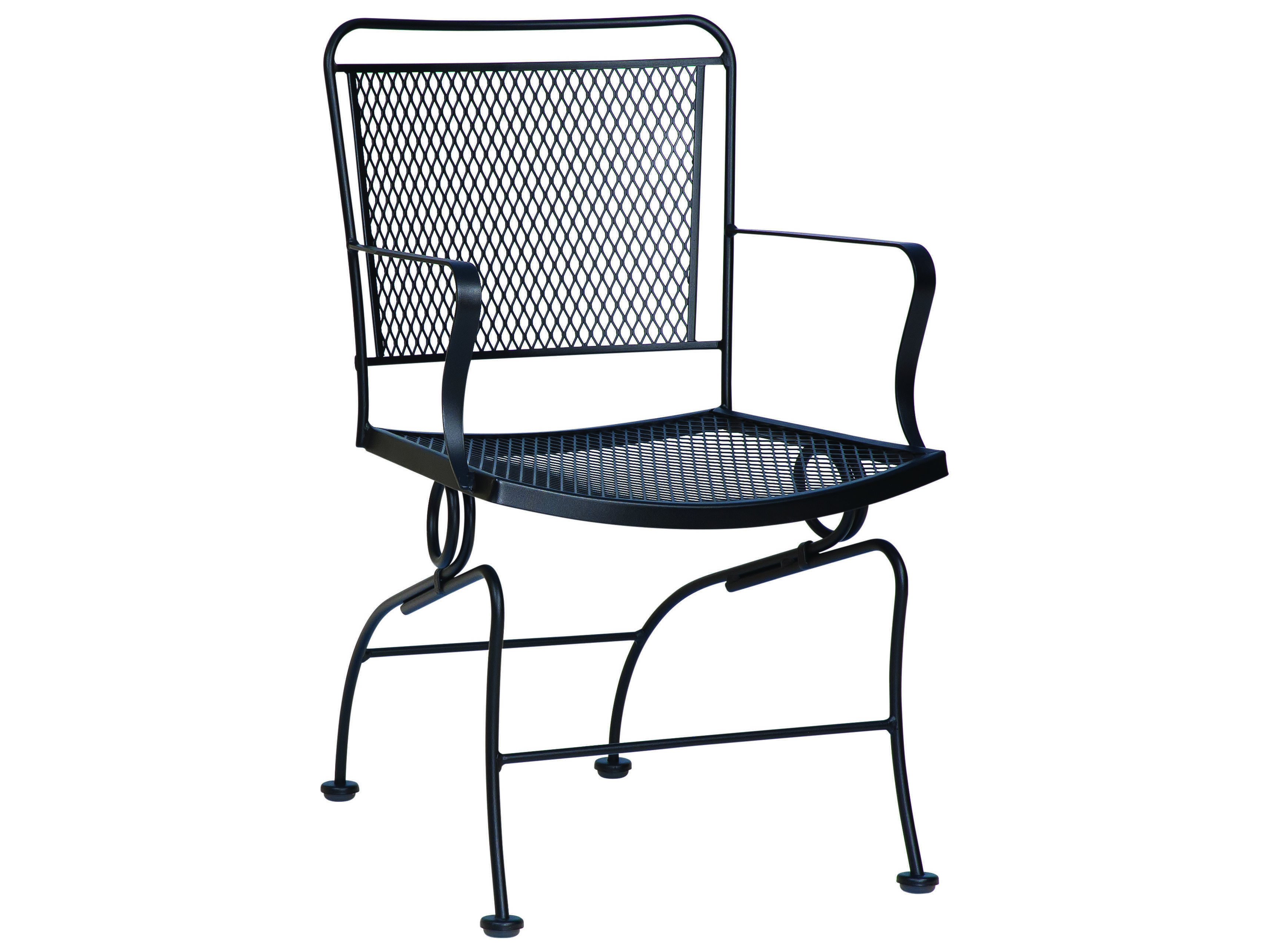 Woodard Constantine Wrought Iron Spring Dining Chair 130066