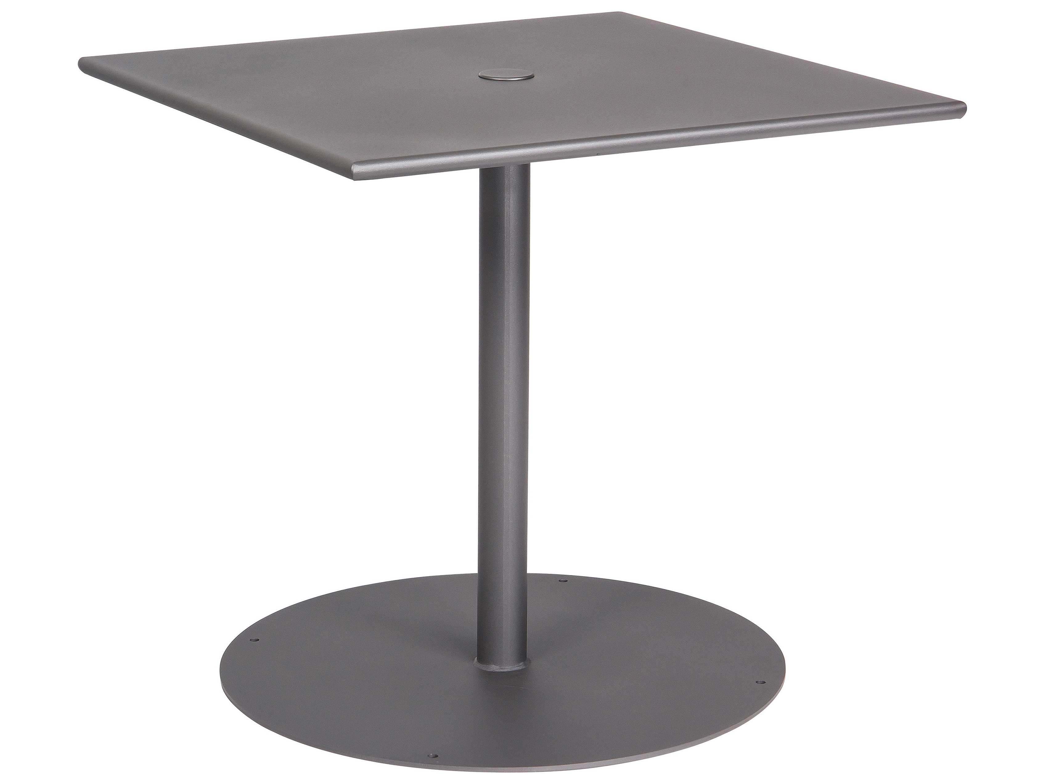 Wrought iron 30 square bistro table with pedestal base 13l3sd30