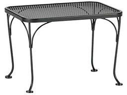 Woodard Wrought Iron Mesh 18 x 24 Rectangular End Table