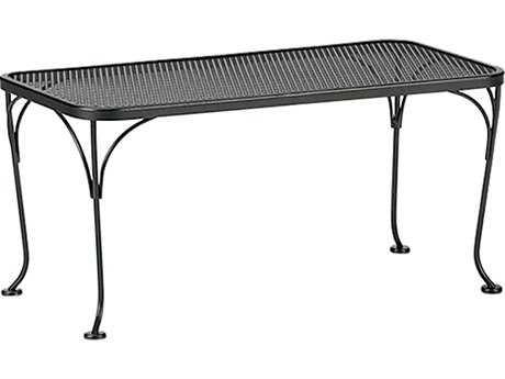 Woodard Mesh Wrought Iron 36 X 18 Rectangular Coffee Table 190041