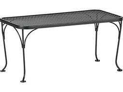 Woodard Mesh Wrought Iron 18 x 36 Rectangular Coffee Table