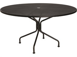 Commercial Outdoor Wrought Iron Dining Tables - 54 round patio table