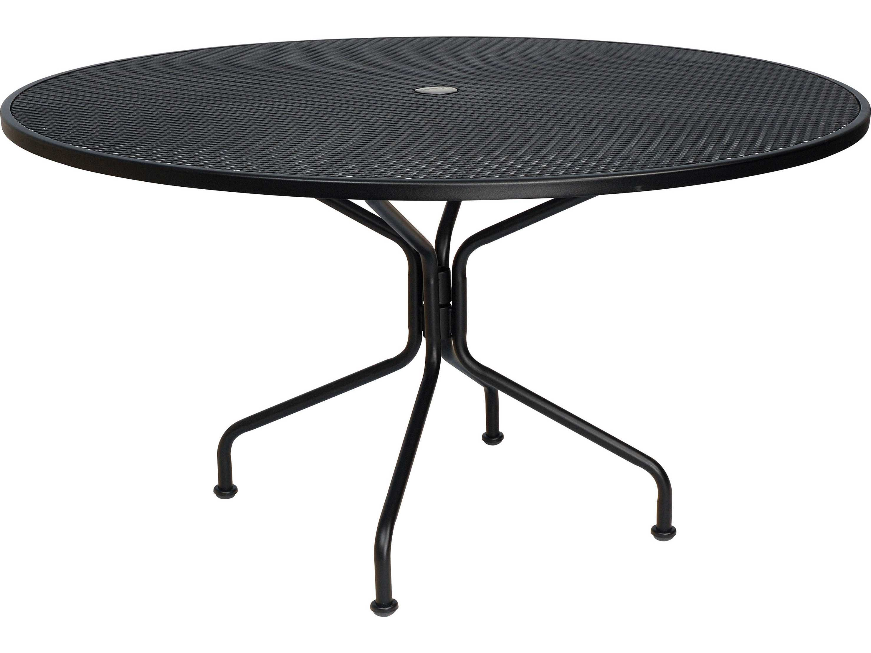 Woodard Wrought Iron 54 Round 8Spoke Table with Umbrella Hole
