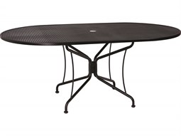 Woodard Wrought Iron 72 X 42 Oval 8 Spoke Table With Umbrella Hole List  Price 808.00 FREE SHIPPING From $525.20