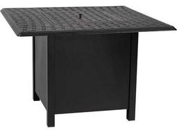Woodard Universal Aluminum Square Dining Height Fire Table Base with Square Burner