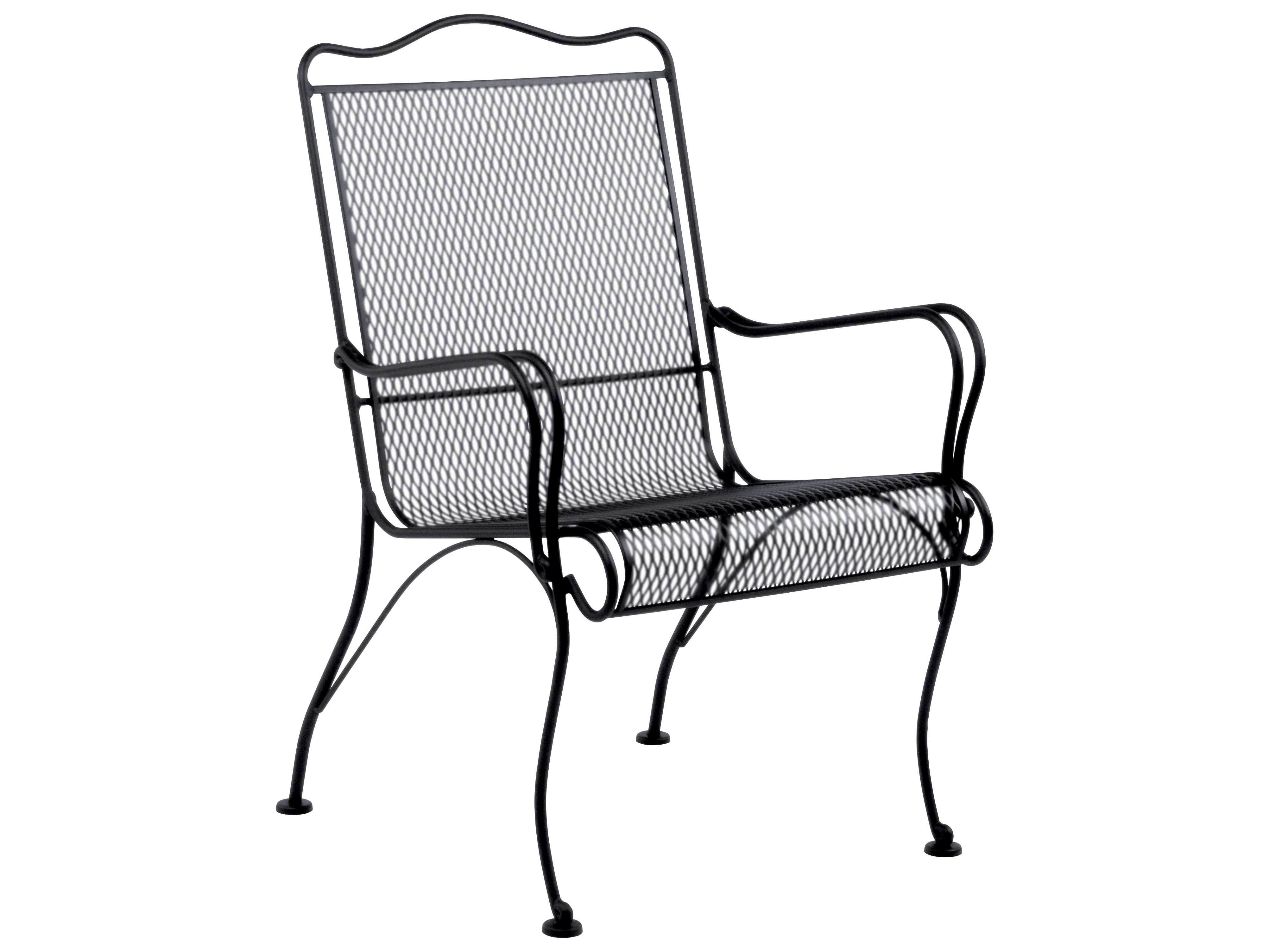 woodard tucson wrought iron high back lounge chair 1g0006