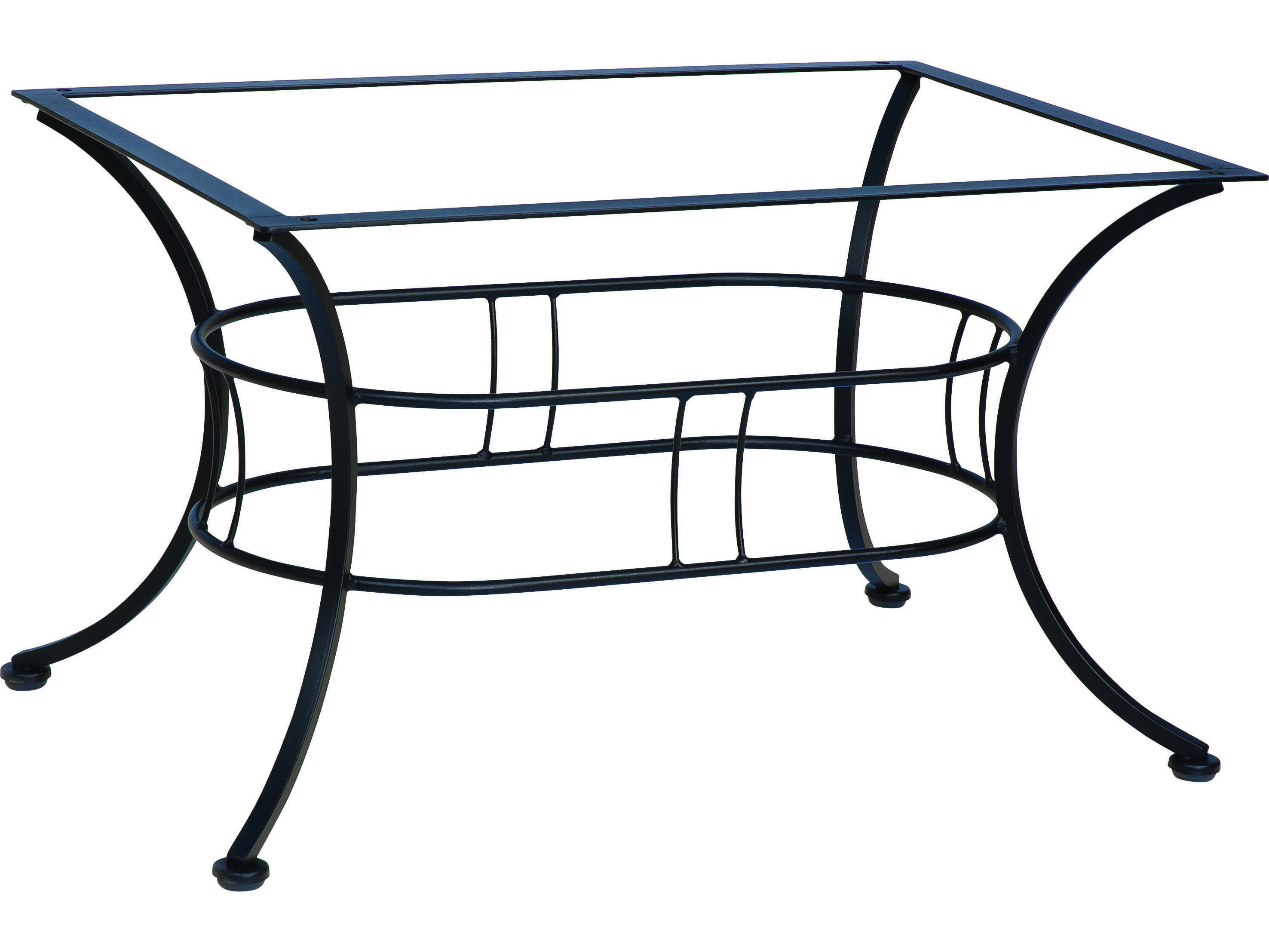 Woodard easton wrought iron coffee table base 1n4500 Wrought iron coffee table bases