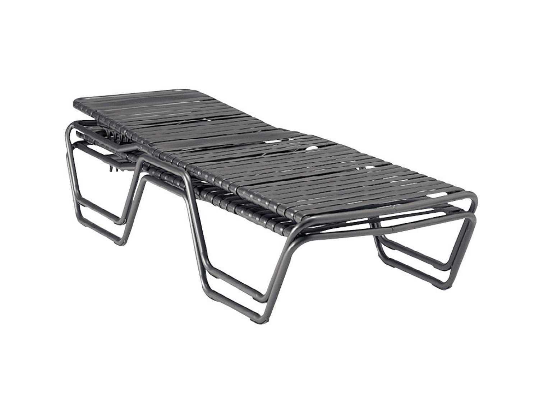 Woodard baja strap aluminum stackable chaise lounge 23m470 for Aluminum strap chaise lounge