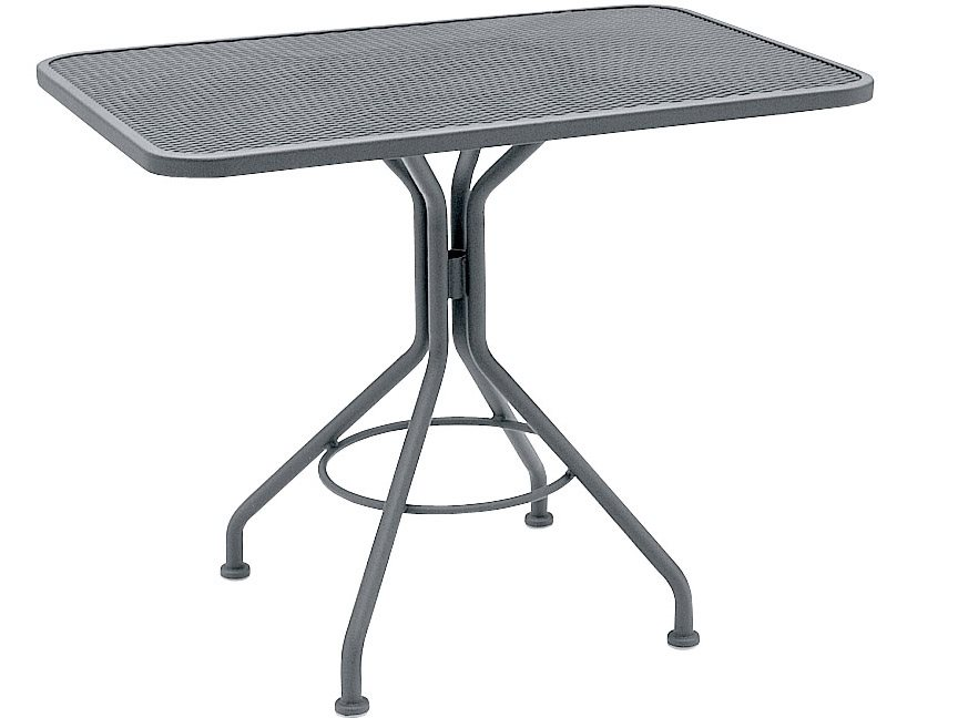 Woodard Wrought Iron 30.5 Square Mesh Top Bistro Table