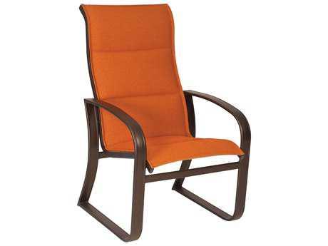 Woodard Cayman Isle Padded Sling Aluminum High Back Dining Chair