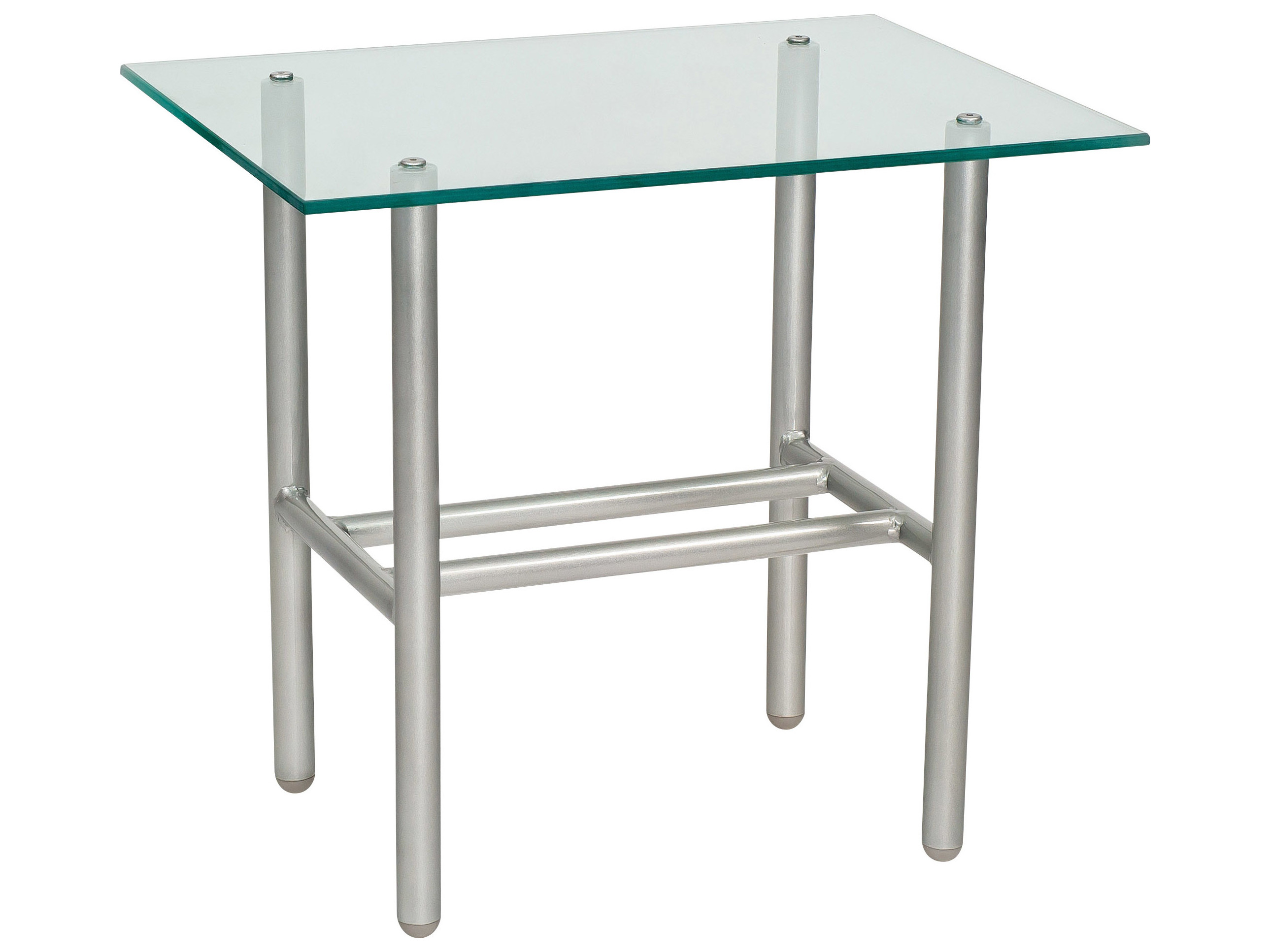woodard uptown wrought iron 24 x rectangular glass top end table 2h0039. Black Bedroom Furniture Sets. Home Design Ideas