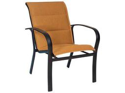 Woodard Fremont Padded Sling Dining Arm Chair Stackable