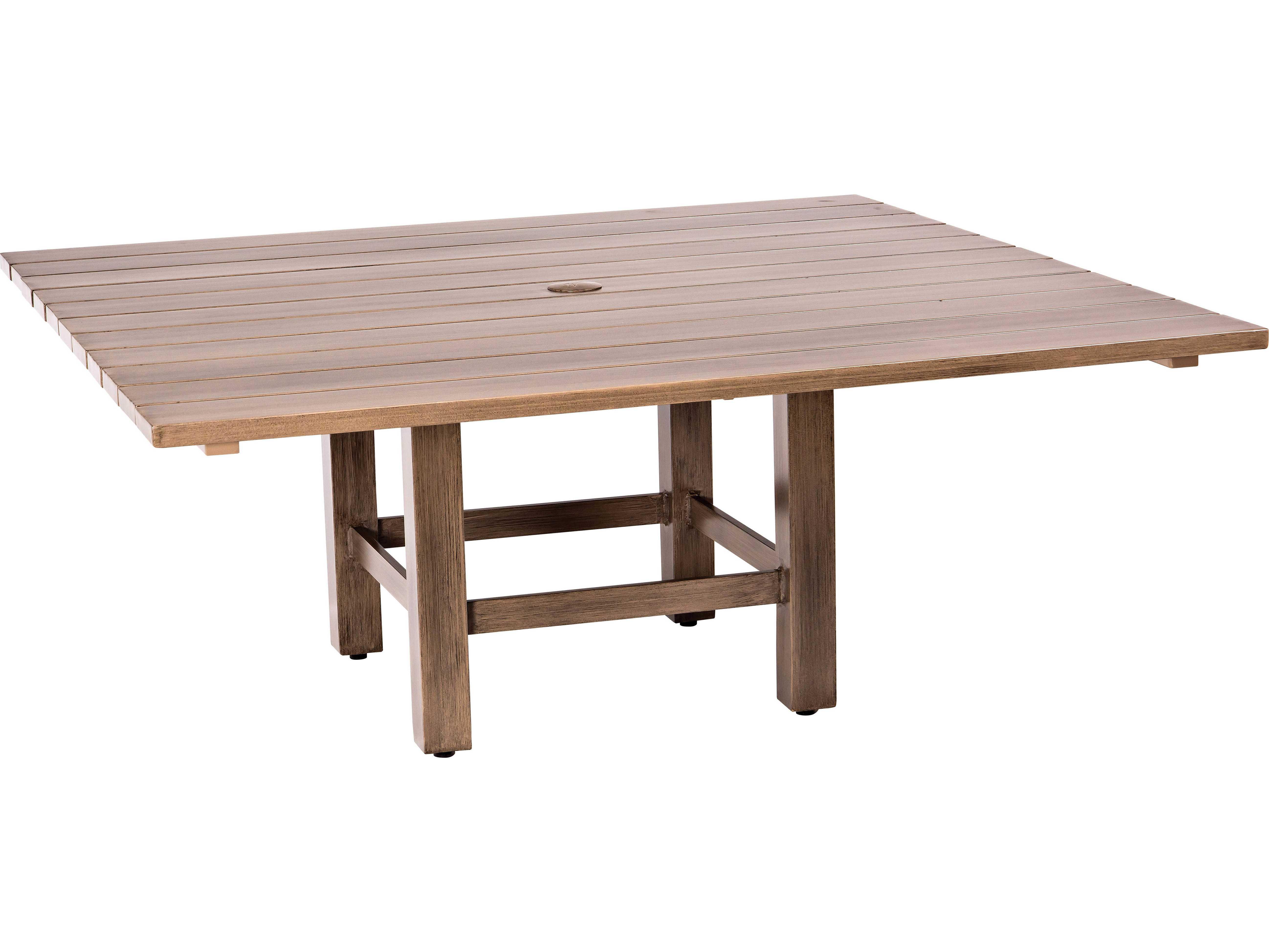 Woodard Woodlands Aluminum Square Coffee Table 2q35bt