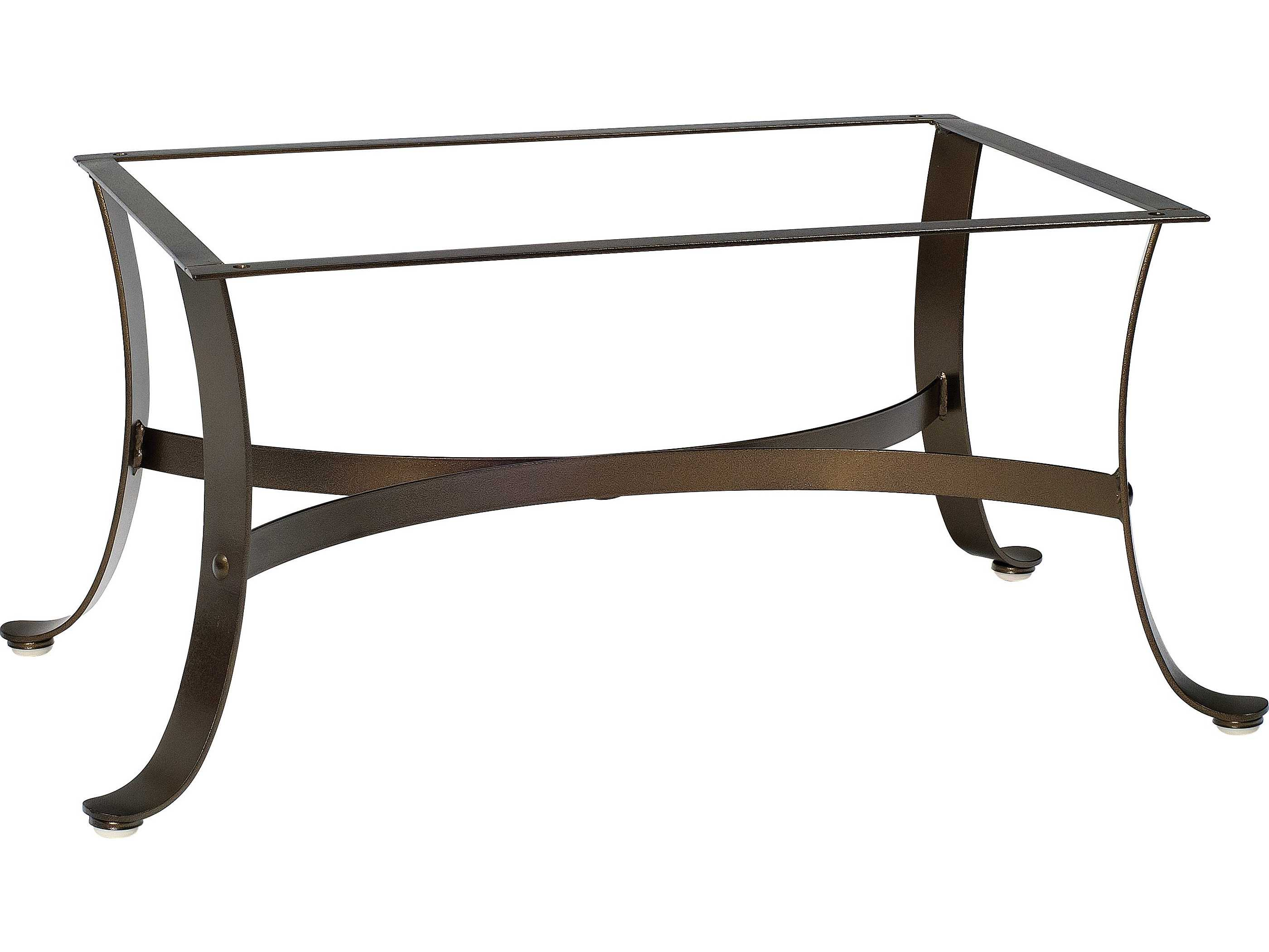 Woodard cascade wrought iron coffee table base 2w4400 Bases for coffee tables