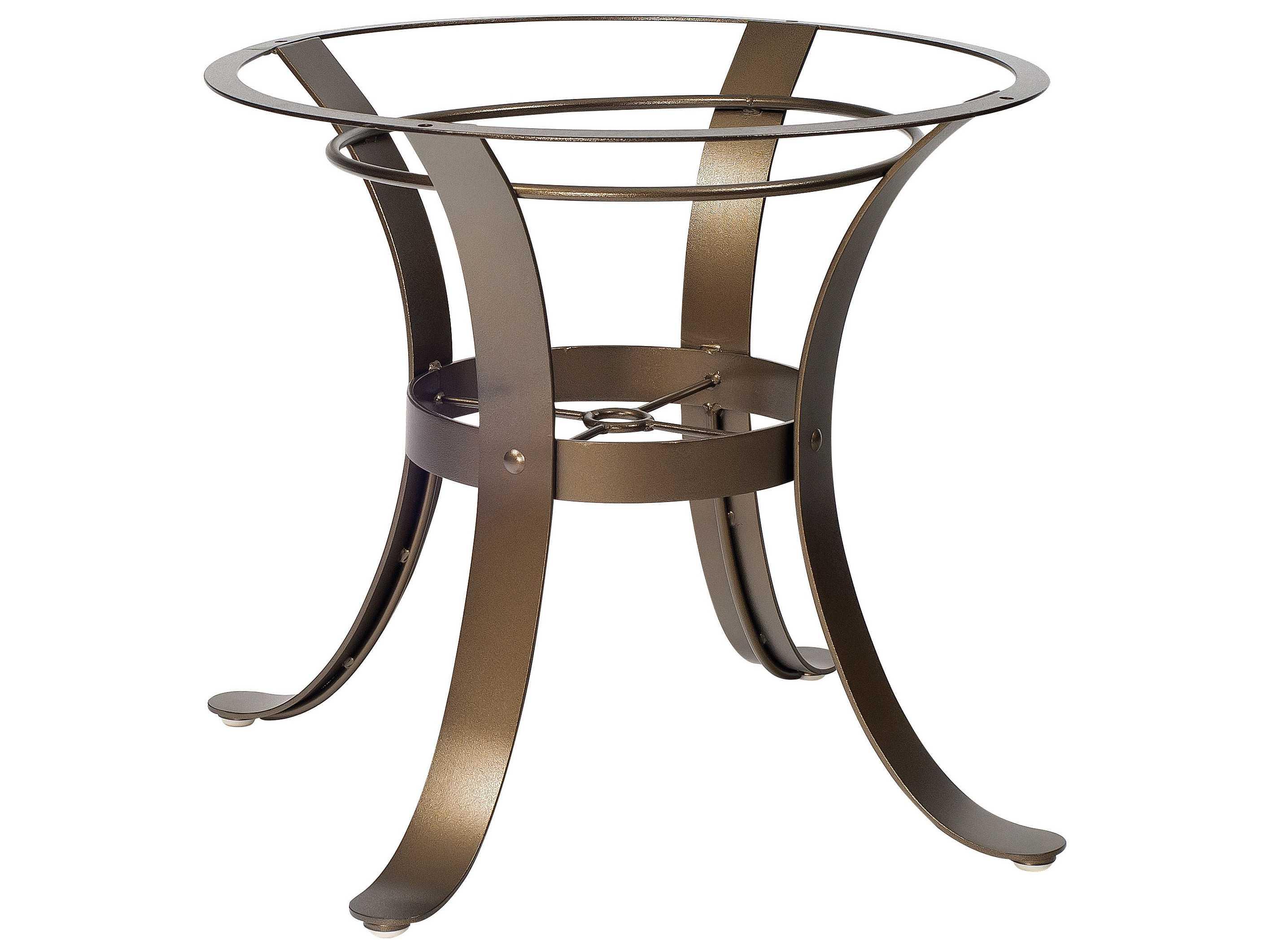 Woodard cascade wrought iron dining table base 2w4800 for Outdoor table bases wrought iron