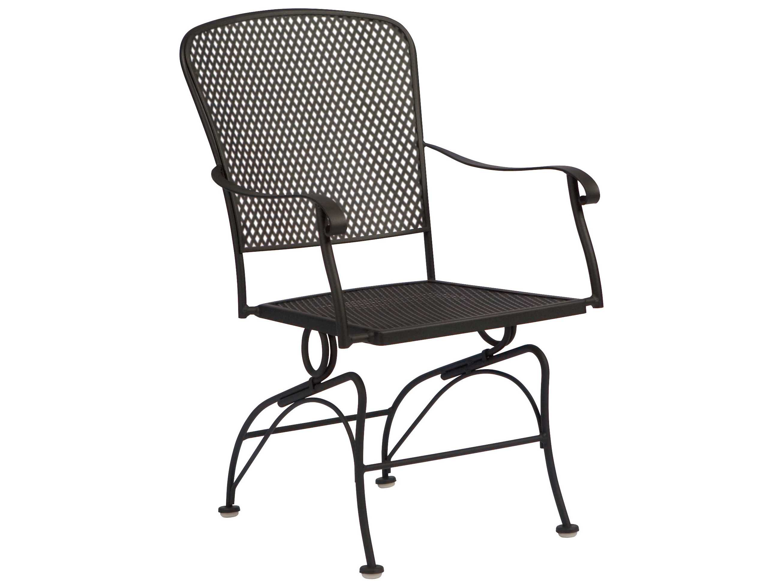 Woodard Fullerton Wrought Iron Coil Spring Dining Chair ...