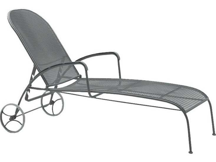 Wrought Iron Barrel Chair Outdoor Cushions: Woodard Valencia Wrought Iron Adjustable Chaise Lounge