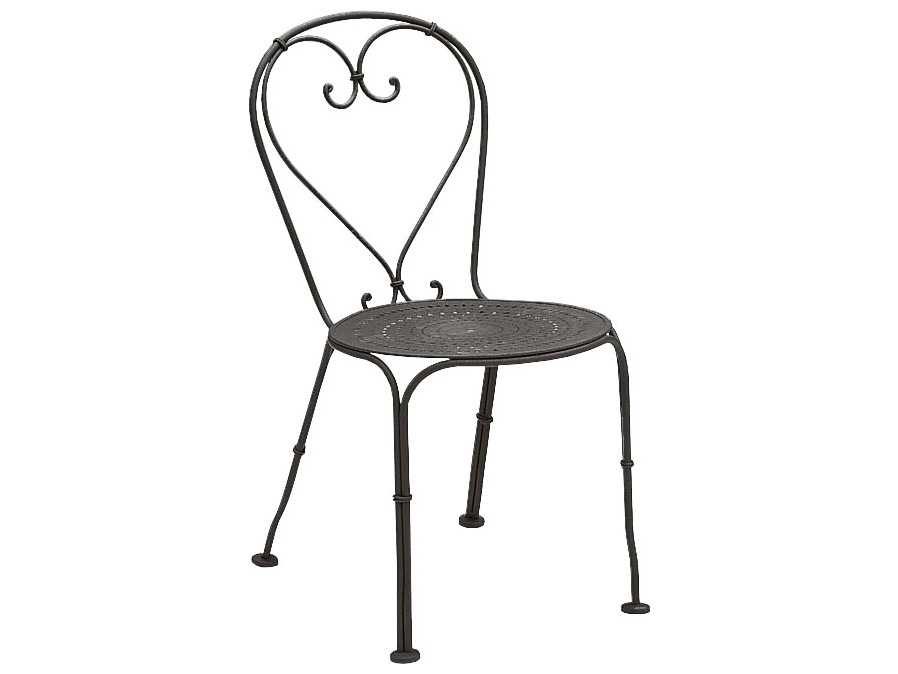 Woodard Parisienne Wrought Iron Stackable Side Chair 380010