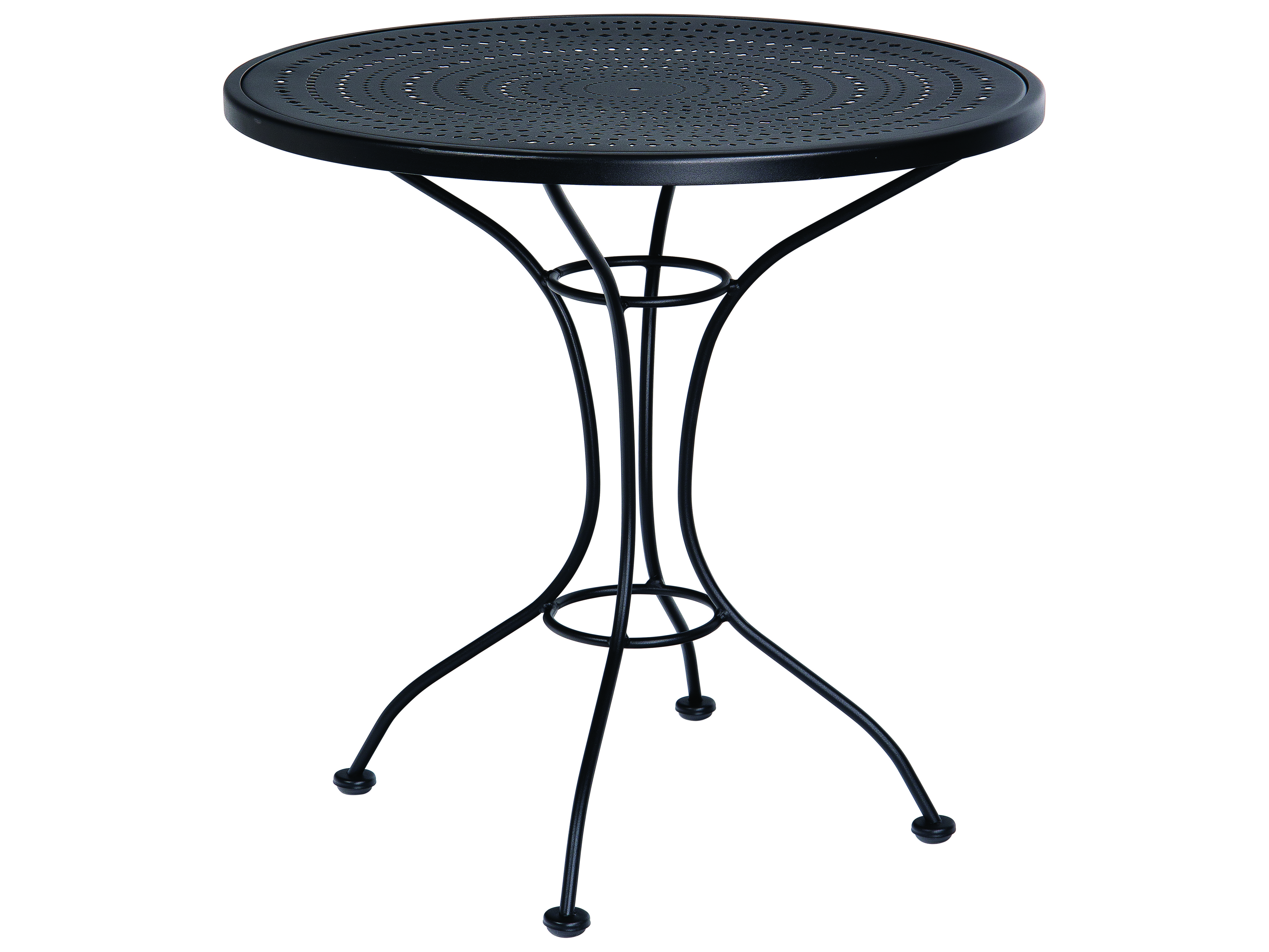 Woodard Parisienne Wrought Iron 30 Round Pattern Metal Top
