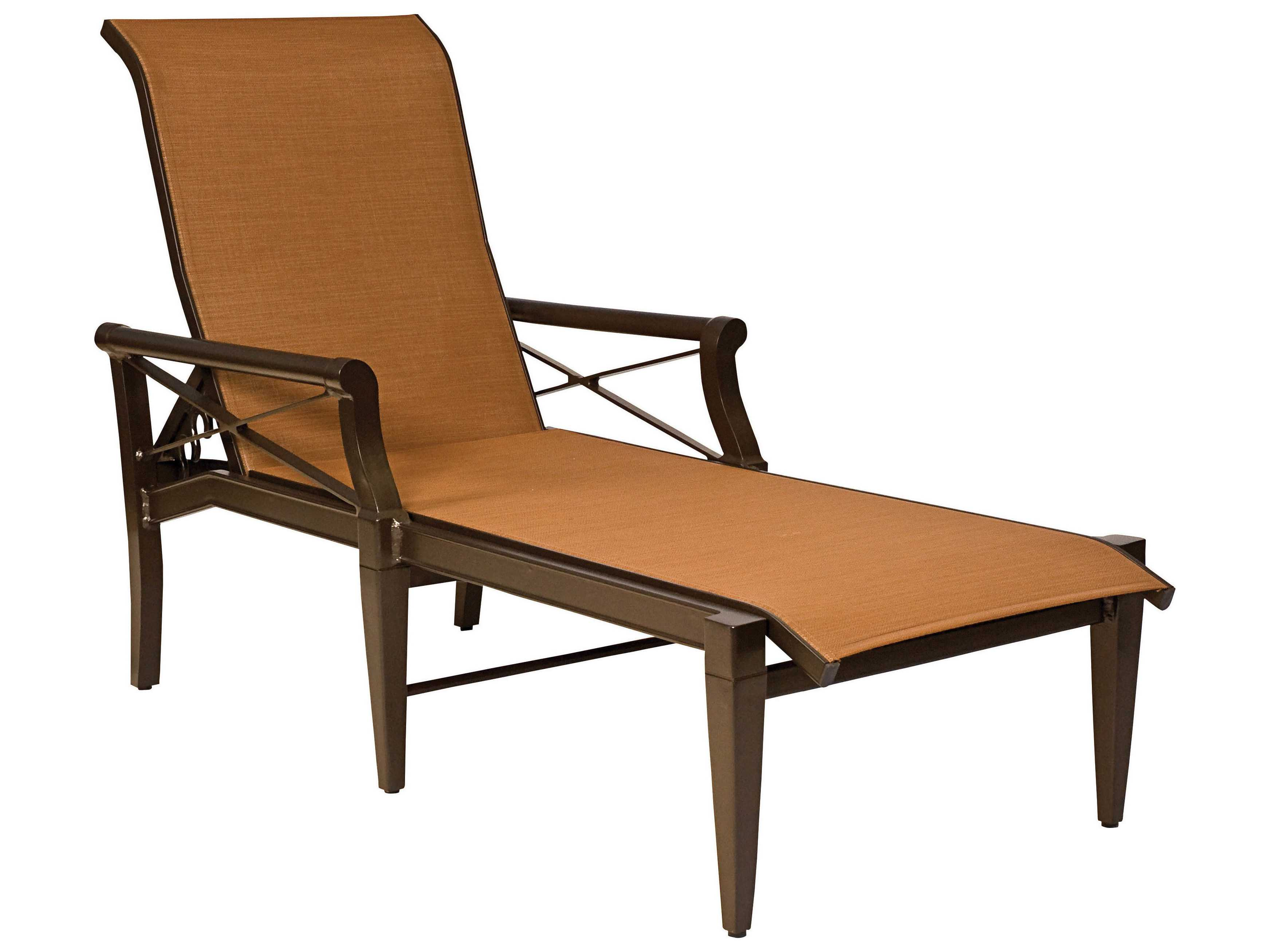 Woodard andover sling aluminum chaise lounge 3q0470 for Aluminum sling chaise lounge