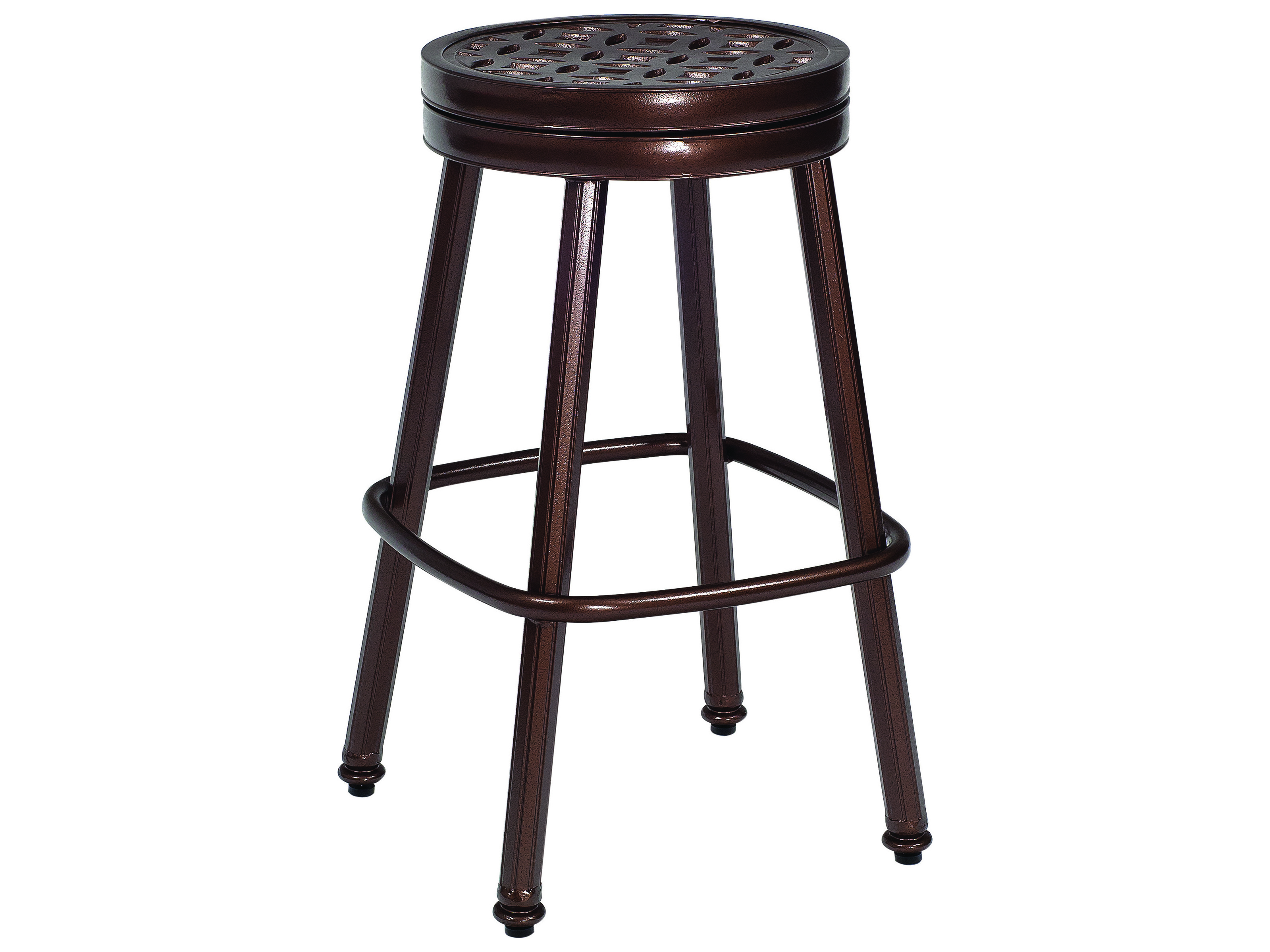 Woodard Casa Cast Aluminum Round Swivel Bar Stool 3y0668