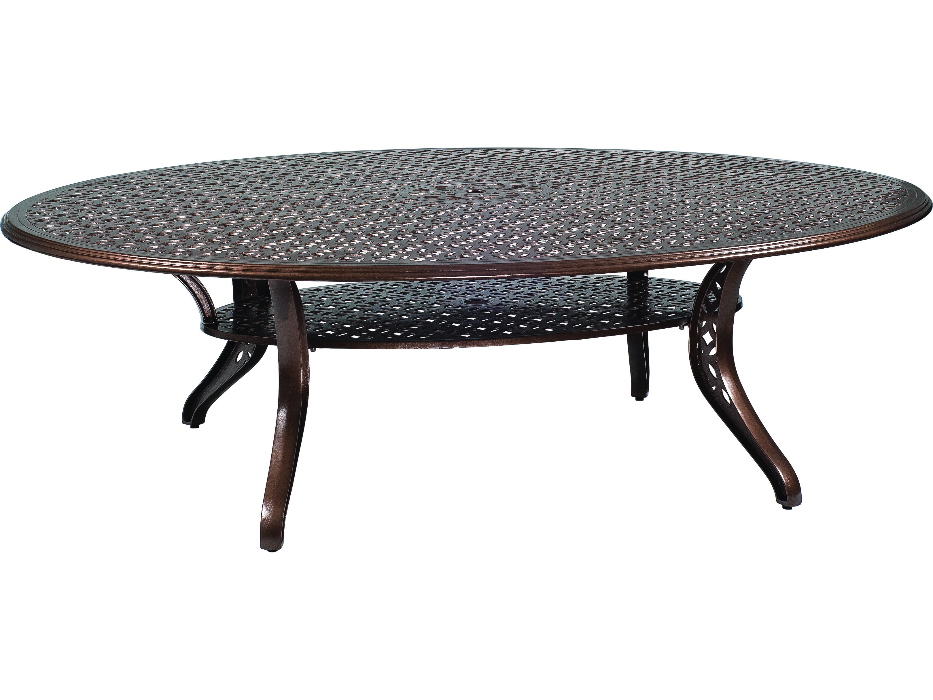Woodard Casa Cast Aluminum 98 50 X 70 Oval Dining Table