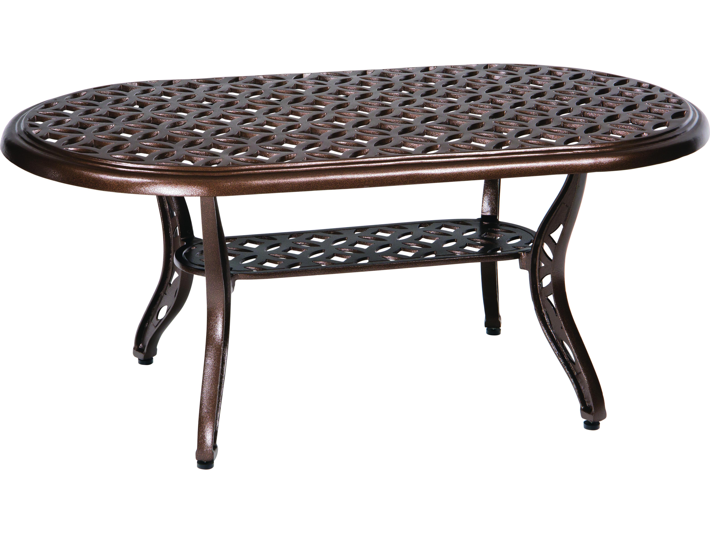 Woodard Casa Cast Aluminum 44 X 24 Oval Coffee Table 3y45bt