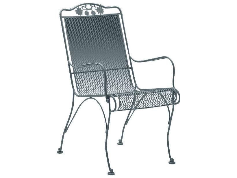 Woodard Briarwood Wrought Iron High Back Dining Chair