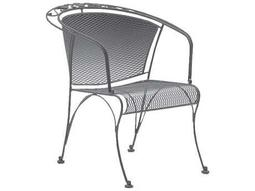Woodard Briarwood Wrought Iron Barrel Dining Chair