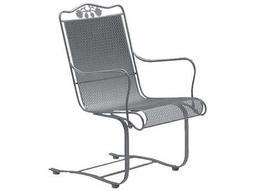 Woodard Briarwood Wrought Iron High Back Spring Base Chair