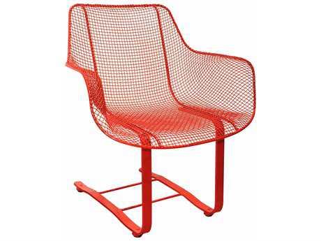 Woodard Sculptura Wrought Iron Spring Occasional Chair