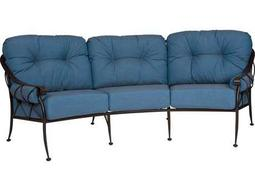 Woodard Derby Wrought Iron Crescent Sofa with Cushions & Bolsters