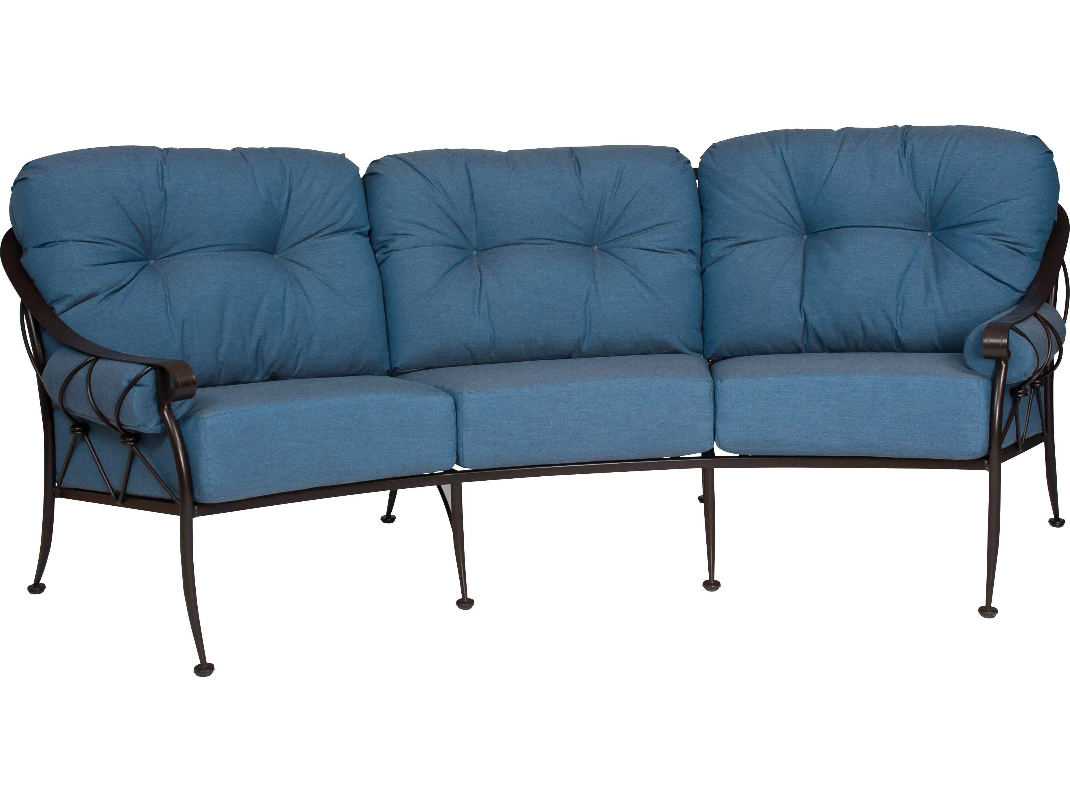 Woodard Derby Wrought Iron Crescent Sofa With Cushions Bolsters 4t0064