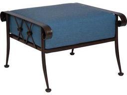 Woodard Derby Wrought Iron Cushion Ottoman