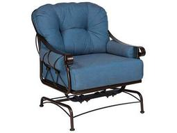 Woodard Derby Wrought Iron Spring Lounge Chair with Cushions & Bolsters