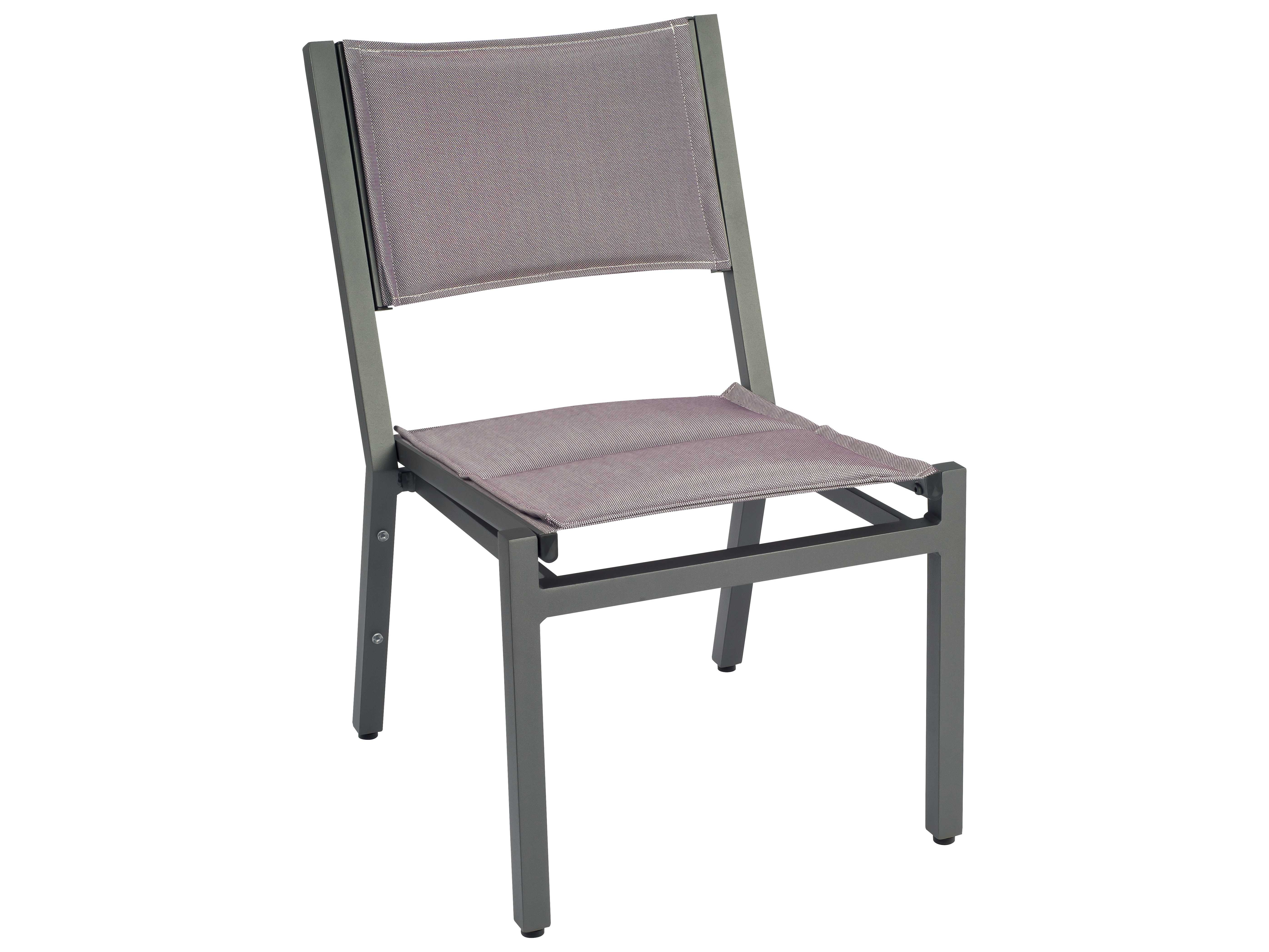 palm coast padded sling aluminum stackable dining side chair 570502