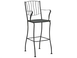 woodard aurora wrought iron bar stool list price free shipping from