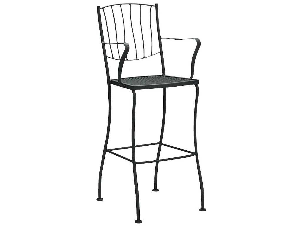 Woodard aurora wrought iron bar stool l