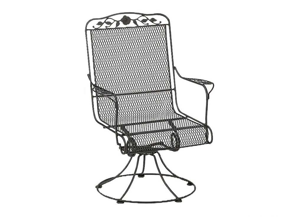 Woodard Windflower Mesh Replacement Cushion Spring Base Barrel Chair Barrel