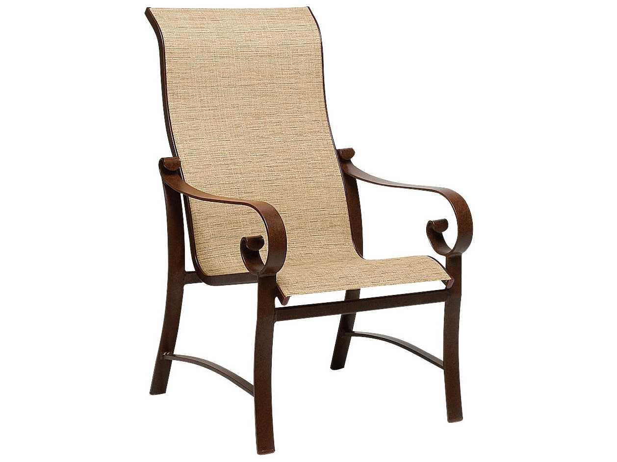 Woodard Belden Sling Aluminum High Back Dining Arm Chair  : WR62H425zm from www.luxedecor.com size 1258 x 943 jpeg 70kB