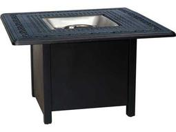 Woodard Universal Aluminum Chat Height Square Fire Table Base with Square Burner