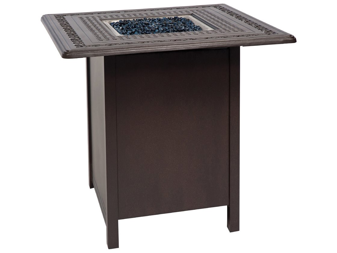Woodard Aluminum 25.50 Square Counter Height Fire Table