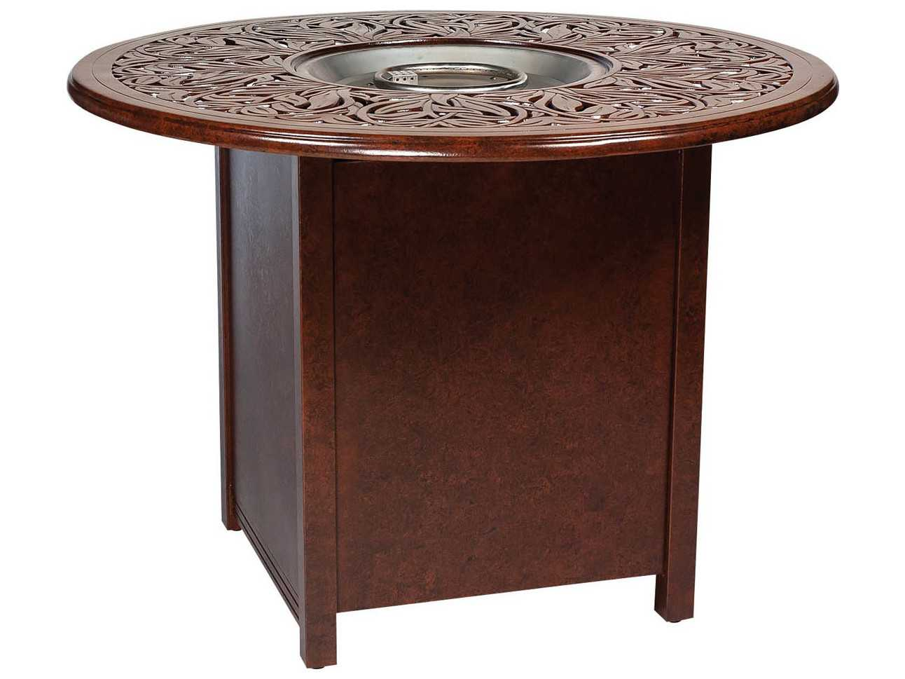 Woodard Aluminum 25 50 Square Counter Height Fire Table