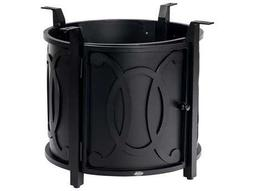 Woodard Universal Aluminum Chat Height Round Fire Table Base with Round Burner Belden Accents