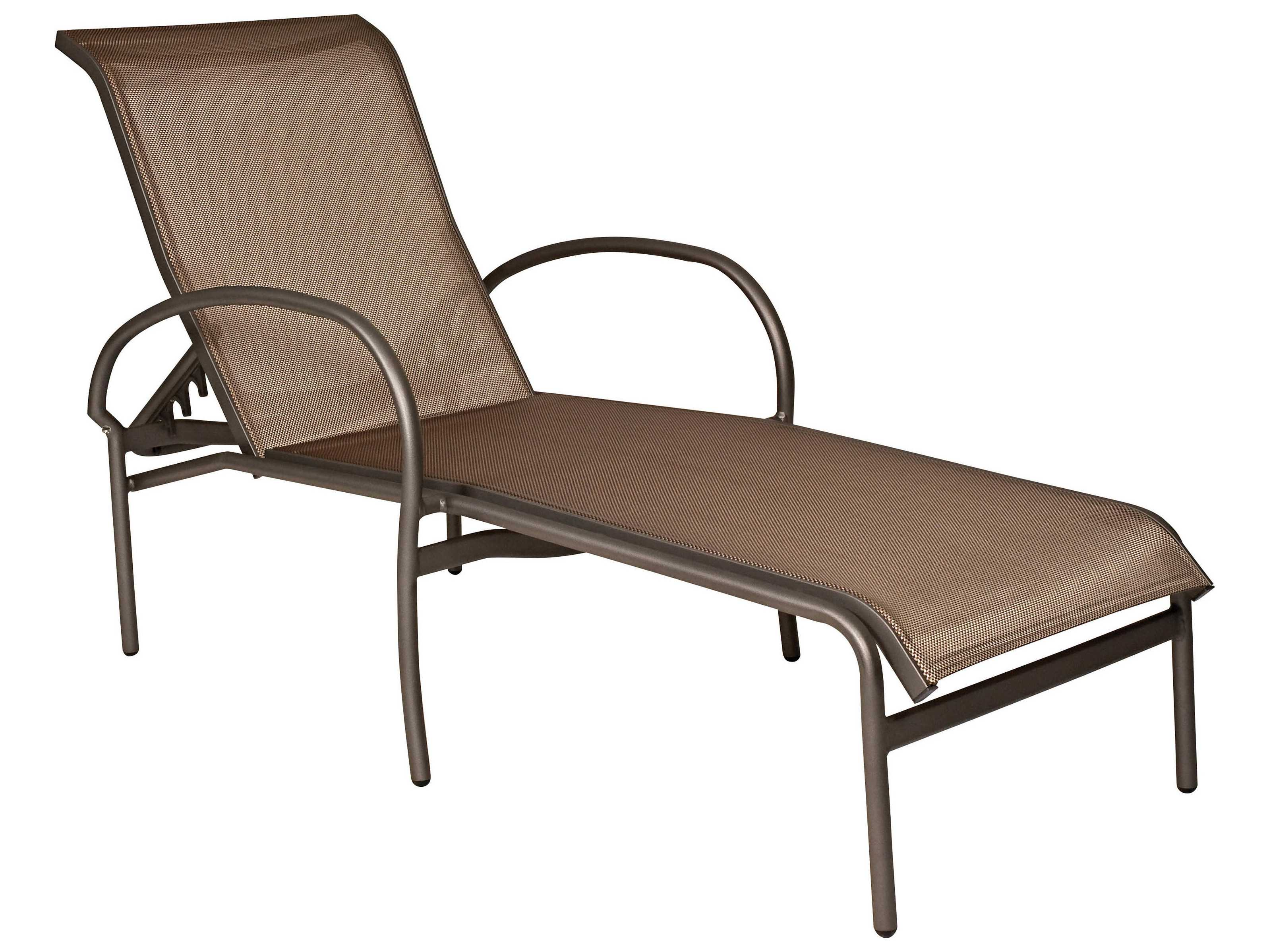 Woodard rivington sling aluminum stackable chaise lounge for Chaise lounge aluminum