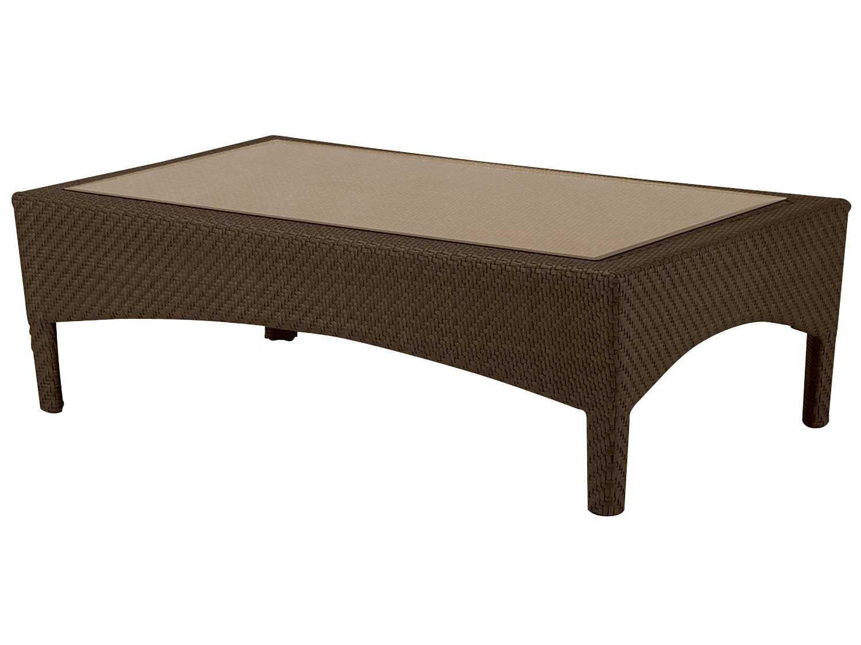 Woodard Trinidad Wicker 50 X 30 Rectangular Coffee Table 6u0043j