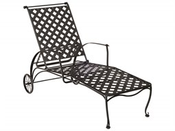 Maddox Wrought Iron Adjustable Chaise Lounge  sc 1 st  Commercial Outdoor : metal chaise lounge - Sectionals, Sofas & Couches