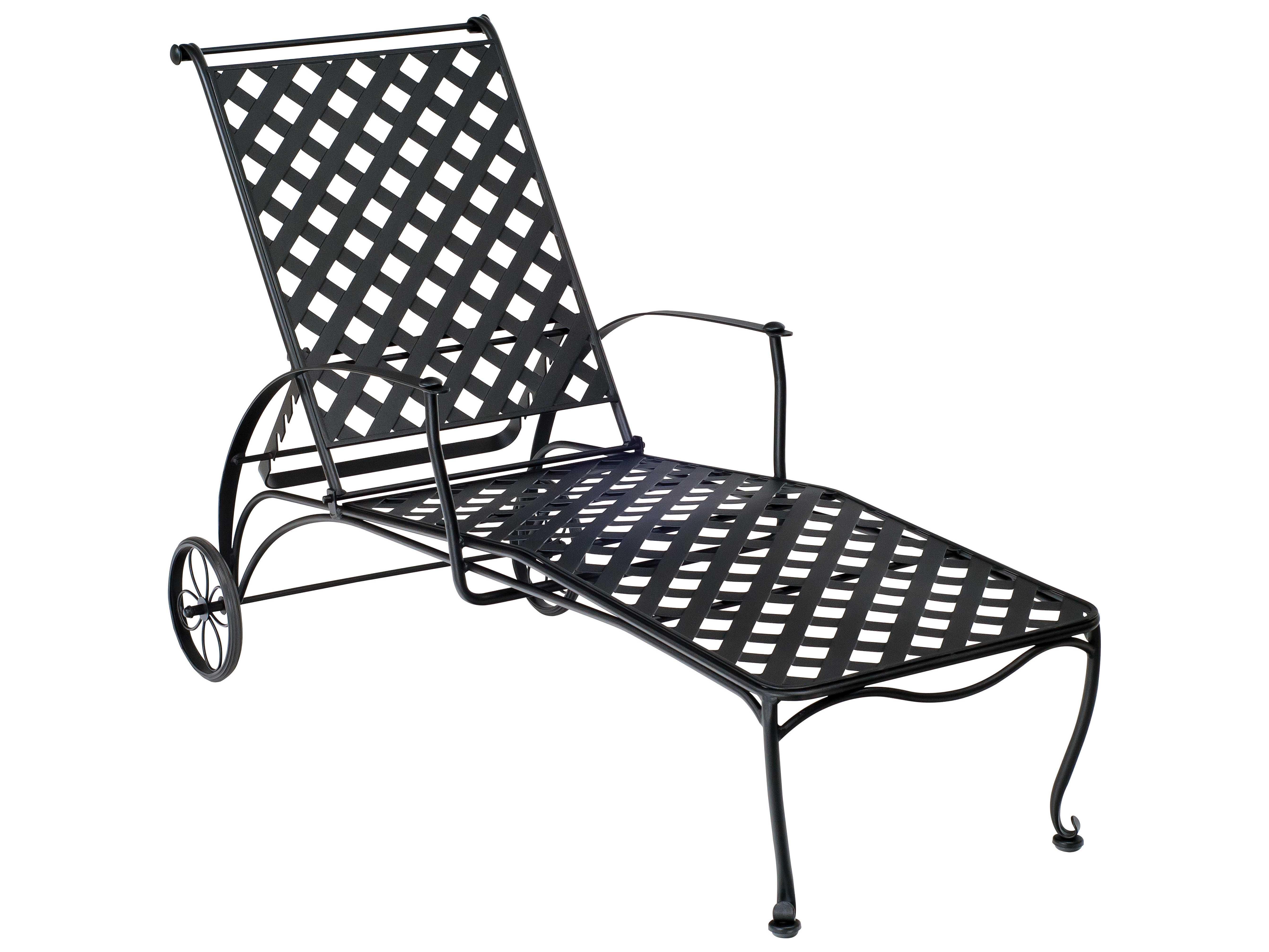 Woodard Maddox Wrought Iron Adjustable Chaise Lounge | 7F0070