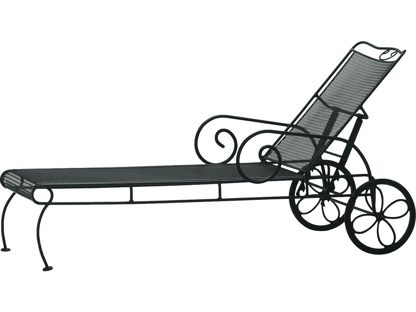 Woodard Cantebury Wrought Iron Adjustable Chaise Lounge