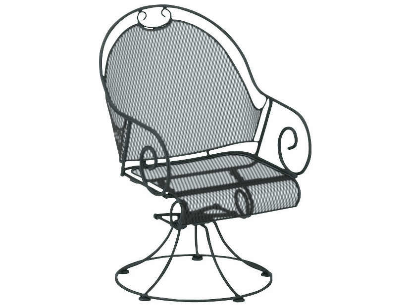 Woodard Cantebury Wrought Iron Barrel Swivel Rocker 7lm085
